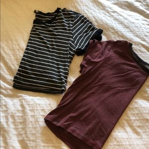 Stripped Pacsun Cropped T-Shirts